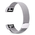 Smart Watch Stainless Steel Wrist Strap Watchband for FITBIT Charge 2(Silver)