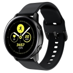 Smart Watch Electroplated Buckle Wrist Strap Watchband for Galaxy Watch Active (Black)