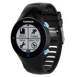 Smart Watch Silica Gel Wrist Strap Watchband for Garmin Forerunner 610 (Black)