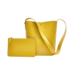 Original Xiaomi CARRY O Series Fashionable Cowhide Leather Shoulder Bag with Small Handbag (Yellow)