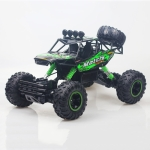HD6026 1:12 Large Alloy Climbing Car Mountain Bigfoot Cross-country Four-wheel Drive Remote Control Car Toy, Size: 37cm (Green)