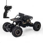 HD6141 1:16 Mountain-climbing Bigfoot Four-wheel Children Remote-controlled Off-road Vehicle Toy (Black)