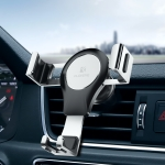 FLOVEME Auto Car Gravity Car Mount Phone Holder (Silver+Black)