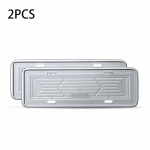 2 PCS Baseus CRFHJ-0S Stainless Steel Car License Plate Holder (Silver)