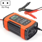 12V 6A Intelligent Universal Battery Charger for Car Motorcycle, Length: 55cm, EU Plug (Red)