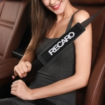 RECARO Car Safety Cover Strap Seat Belt Shoulder Protector (Black)