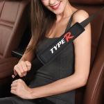 TYPE-R Car Safety Cover Strap Seat Belt Shoulder Protector (Black)