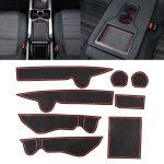 Car Water Cup Gate Slot Mats Plastic Red Anti-Slip Interior Door Pad for Mercedes-Benz C200L