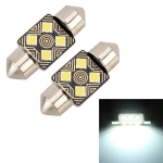 2 PCS 31mm DC12V / 1.5W / 6000K / 110LM 4LEDs SMD-3030 Car Reading Lamp Dome Light, with Decoder