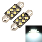 2 PCS 36mm DC12V / 1.5W / 6000K / 110LM 6LEDs SMD-3030 Car Reading Lamp Dome Light, with Decoder