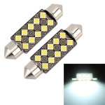 2 PCS 41mm DC12V / 1.5W / 6000K / 110LM 10LEDs SMD-3030 Car Reading Lamp Dome Light, with Decoder