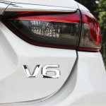 V6 Shape Car Metal Body Decorative Sticker