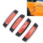 4 PCS Car Door Noctilucent Anti-collision Strip Protection Guards Trims Stickers(Black)