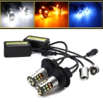 2 PCS 1156 / BA15S DC 9-24V 4W Car Auto Triple Colors Turn Lights / Daytime Running Lights, with 30LEDs SMD-3030 Lamp Beads