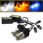 2 PCS T20 / 7440 DC 9-24V 4W Car Auto Triple Colors Turn Lights / Daytime Running Lights, with 30LEDs SMD-3030 Lamp Beads
