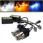 2 PCS T25 / 3156 DC 9-24V 4W Car Auto Triple Colors Turn Lights / Daytime Running Lights, with 30LEDs SMD-3030 Lamp Beads