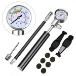 Portable High Pressure Pump Bicycle Pump Mini Mountain Bike Pump + Crowbar