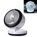 Car Multi-function Portable Electric Cooling Fan + Humidifier (Black)