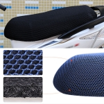 Waterproof Motorcycle Sun Protection Heat Insulation Seat Cover Prevent Bask In Seat Scooter Cushion Protect, Size: XXL, Length: 86- 92cm; Width: 40-56cm (Black)
