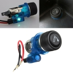 Car 10A 12V European Standard Cigarette Lighter Full Assembly with Light (Blue)