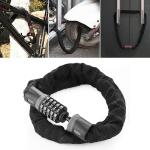 Motorcycles / Bicycle Chain Lock 5 Digit Password Anti-theft Password Lock, Length:1.0m