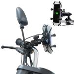Motorcycle X Shape Aluminum Alloy Phone Bracket 5V 2.1A Phone Charger