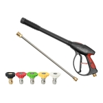 High Pressure Car Wash Gun Water Spray Jet Lance with 5 Nozzles