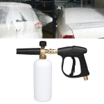 High Pressure Car Wash Foam Gun Soap Foamer Generator Water Sprayer Gun, Outer Wire: 18 x 1.5