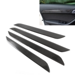 4 PCS Carbon Fibre Car Door Panel Decorative Sticker for Audi Q3