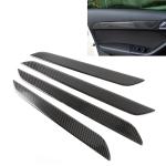 4 PCS Carbon Fibre Car Door Panel Decorative Sticker for Audi Q3