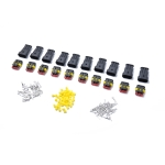 10 Sets 3 Pins Way Sealed Waterproof Electrical Wire Connector Plug Terminal Car Auto Set