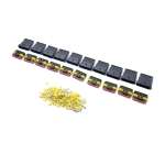 10 Sets 6 Pins Way Sealed Waterproof Electrical Wire Connector Plug Terminal Car Auto Set