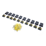 10 Sets 5 Pin Way Sealed Waterproof Electrical Wire Connector Plug Terminal Car Auto Set