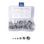 60 PCS Car 304 Stainless Steel Lock Nuts Nylon Insert Locknut Kit M3-M10
