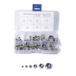 60 PCS Car 304 Stainless Steel Lock Nuts Nylon Insert Locknut Kit M3-M10