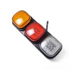 DC 24V Car Left Side Long Stripe Square Shape LED Collision Rear Light Brake Lights for Trailer / Truck
