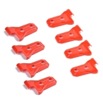 8 PCS Automotive ABS Side Door Hinge Protector Cover Trim for Jeep Wrangler JL 4 Door 2018-2019 (Red)