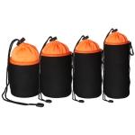 4 in 1 SLR Camera Lens Bag Micro Single Lens Bag Lens Inner Bile Bag Waterproof Protective Case Plus Velvet Thickening (Orange)