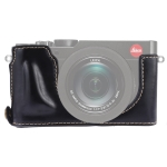 1/4 inch Thread PU Leather Camera Half Case Base for Leica DLUX TYP 109 (Black)
