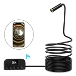 5.0MP Auto Focus Camera WiFi Endoscope Snake Tube Inspection Camera with 4 LEDs, IP68 Waterproof, Lens Diameter: 14.2mm, 3.5m Hard Cable