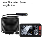 F200 4.3 Inch Screen Display HD1080P Snake Tube Inspection Endoscope with 8 LEDs, Length: 5m, Lens Diameter: 8mm, Hard Line