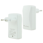 Pierre Cardin PCQ-E09 Portable Dual USB Charger Travel Adapter, EU Plug