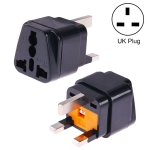 Portable Universal Socket to UK Plug Power Adapter Travel Charger with 13A Fuse (Black)