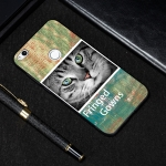 Cat Painted Pattern Soft TPU Case for Huawei P8 Lite (2017)