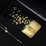 Gold Butterfly Painted Pattern Soft TPU Case for Huawei P30 Pro