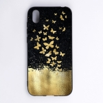 Gold Butterfly Painted Pattern Soft TPU Case for Huawei Y5 (2019)