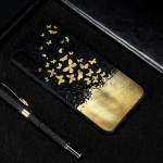Gold Butterfly Painted Pattern Soft TPU Case for Huawei Y6 (2019)