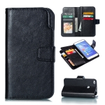 Multifunctional Litchi Texture Horizontal Flip Leather Case for Huawei P8 Lite, with Card Slot & Holder & Wallet (Black)