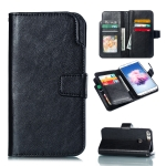 Multifunctional Litchi Texture Horizontal Flip Leather Case for Huawei Enjoy 7S, with Card Slot & Holder & Wallet (Black)