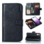 Multifunctional Litchi Texture Horizontal Flip Leather Case for Huawei P20, with Card Slot & Holder & Wallet (Black)